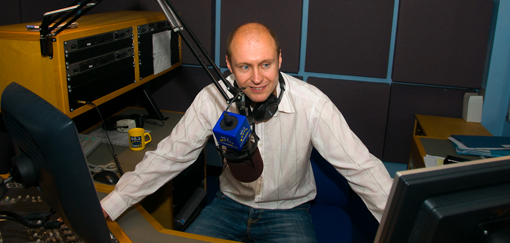 Neil Quigley in the Studio at Mix 96