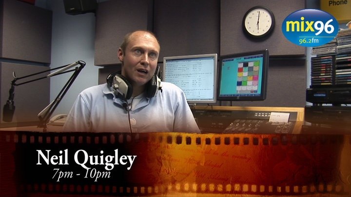 Neil Quigley in a still from the Mix 96 behind the Scenes Video