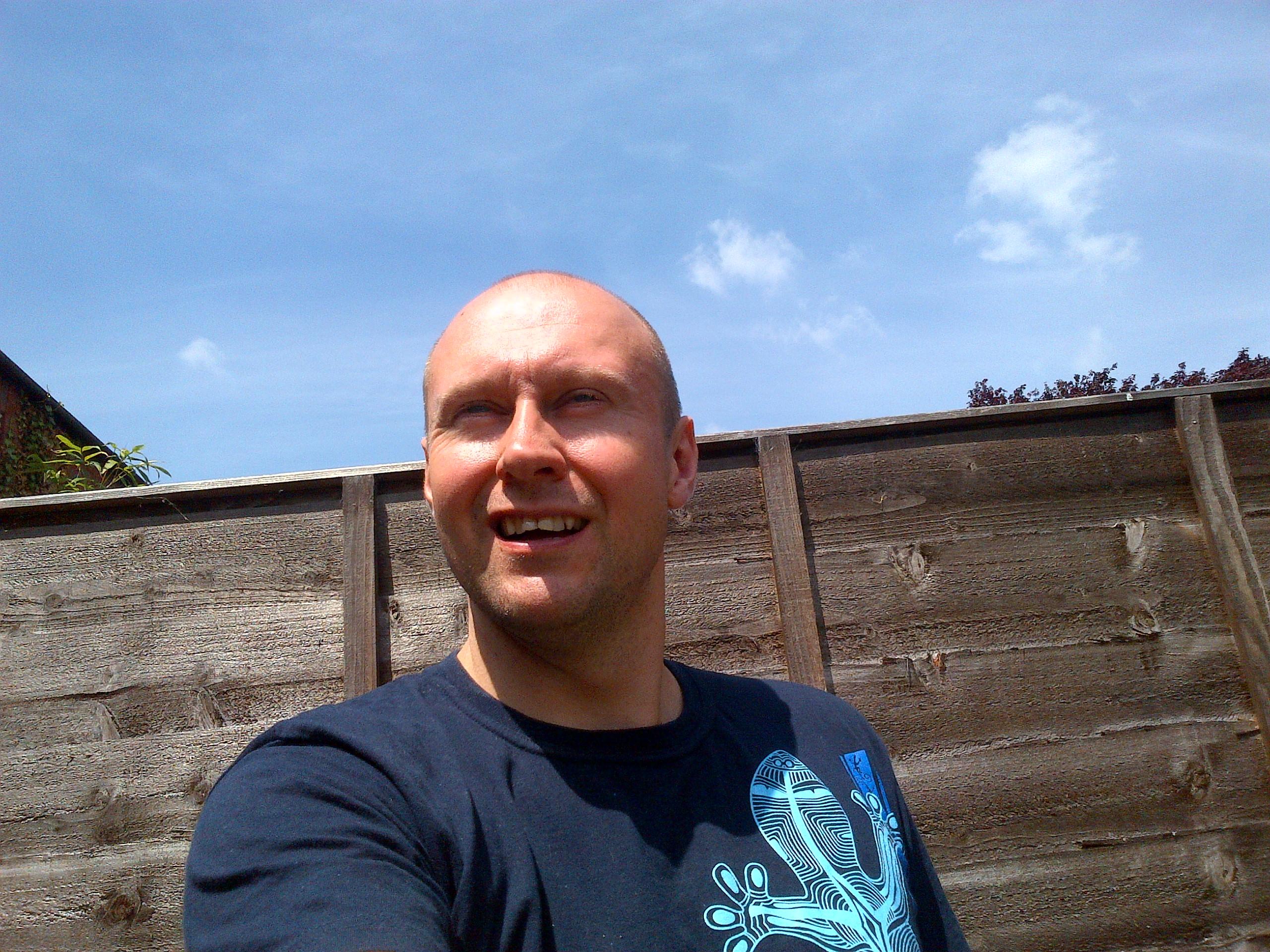 Neil Quigley Enjoying the Sun