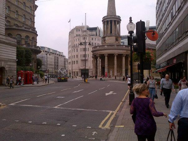 On the way to BBC New Broadcasting House