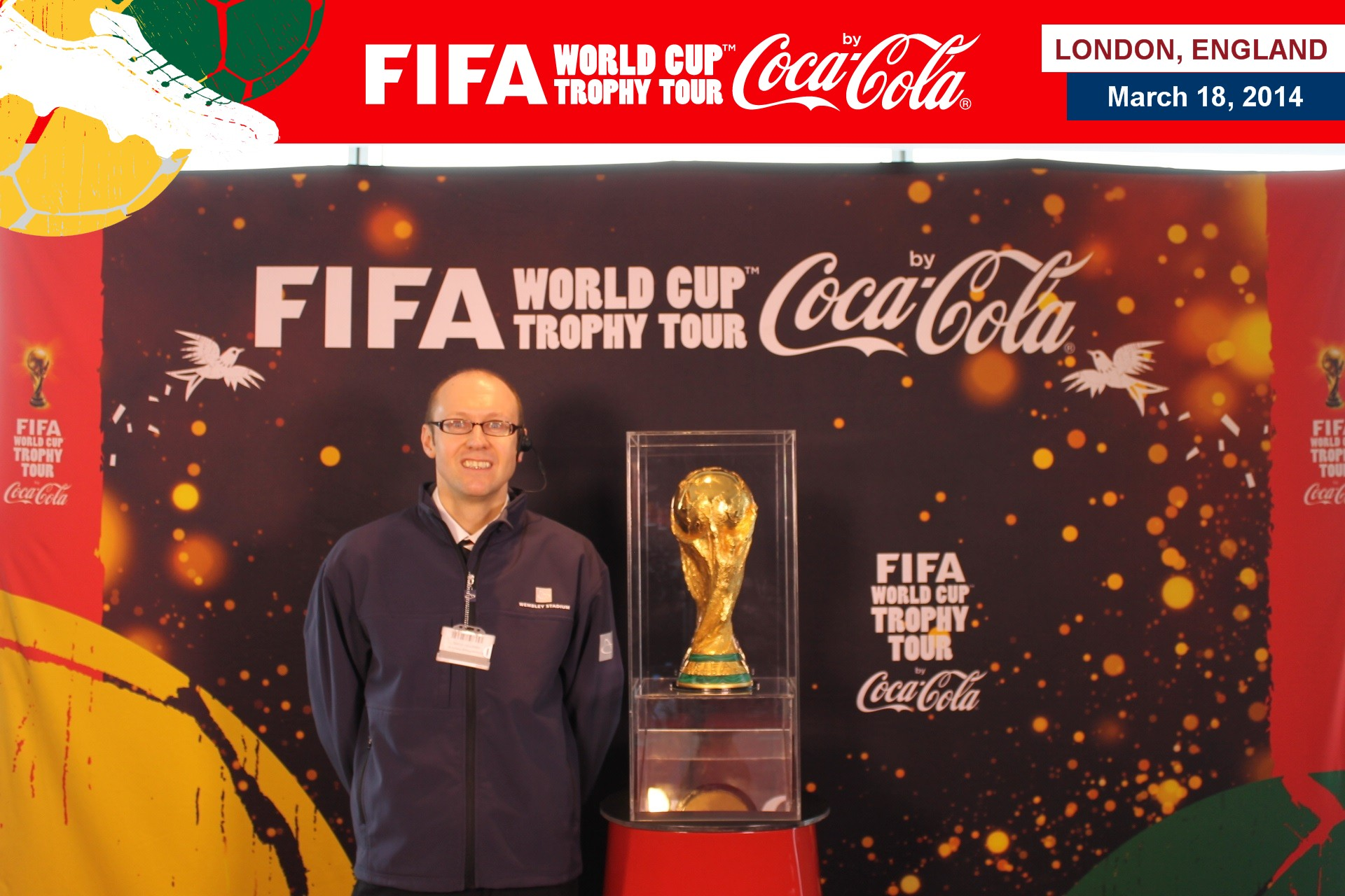 Neil Quigley with the World Cup