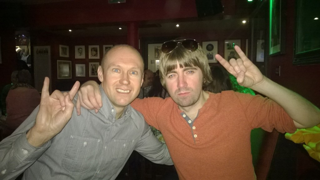 Neil Quigley and Jeff Nolan in Liverpool
