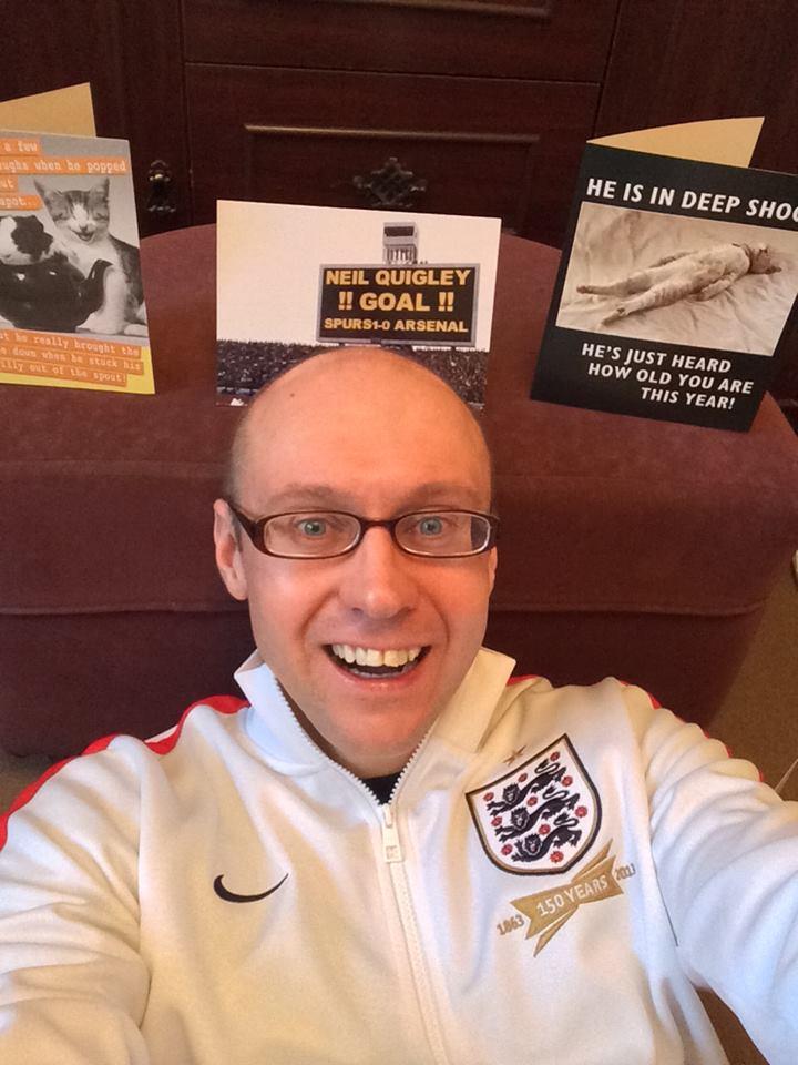 Neil Quigley Birthday Selfie