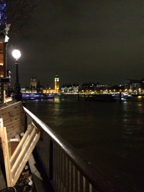 View from the South Bank through Mulled Wine eyes