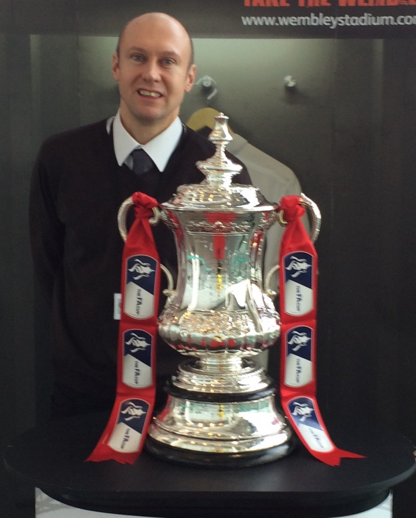 Neil Quigley with FA Cup